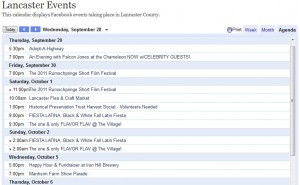 Calendar of Things to Do In Lancaster, PA